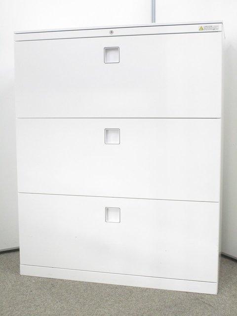 【希少な天板付き書庫!】収納名人!3段ラテラルキャビネット入荷!書類保管庫や備品の保管に最適!