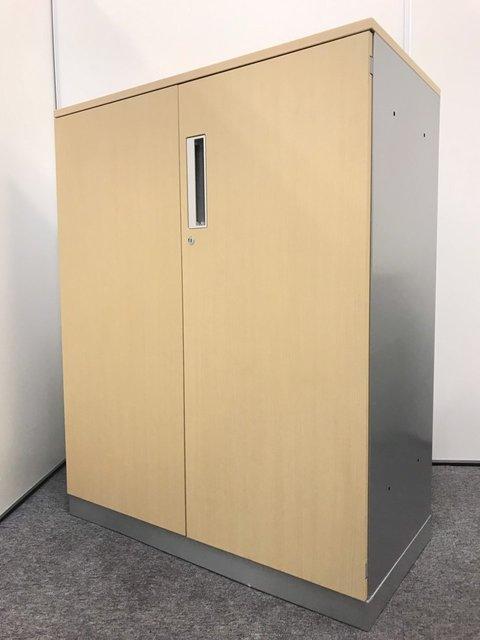 【木目調】両開き書庫|コクヨ(kokuyo)|エディア|天板付き・3段収納|おしゃれオフィス家具