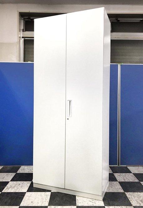 【鍵作成承ります!!】コクヨ製 エディアシリーズ 6段収納が出来る大容量の両開き書庫!ホワイトで色鮮やかに!中古品だから安い! 使用期間が短いためきれい!!