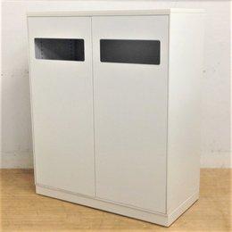 キャビネット型トラッシュボックスが2台入荷!書庫に並べて設置もOK ゴミ箱 分別