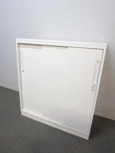 ■コクヨ製 3枚引違い書庫 ホワイト ■カウンターとしてもご利用頂けるサイズです!