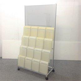 【値下げ!】おしゃれな雑誌架が2台限定で入荷致しました!4段x4列+センターはポスター等を展示できる!【早い者勝ち!】