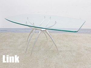 【引取り限定】ADAL/アダル Link ガラススクエアーテーブル W1600 蒲原潤 新品定価33万