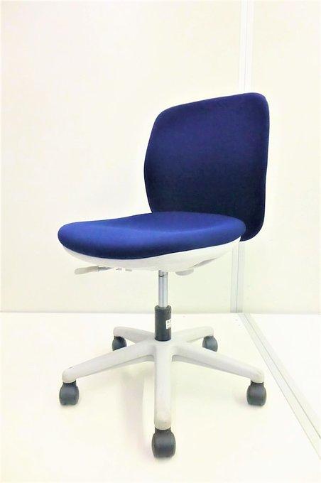 【綺麗で安いチェア!背面ホワイトでお洒落!】事務椅子 オフィスチェア 肘なし ローバック[ローコストチェア]