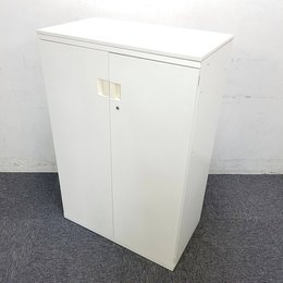 【6台入荷】オカムラ製|W800|人気のホワイト両開き書庫入荷致しました!