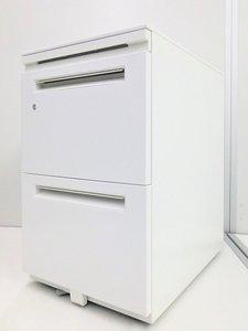 A4 サイズを2段で収納可能! 人気のホワイトカラー STワゴン【A00614799 】θ