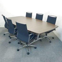 【1セット限定】テーブルのオススメセット!中古 ミーティングテーブル 高級チェア オフィス