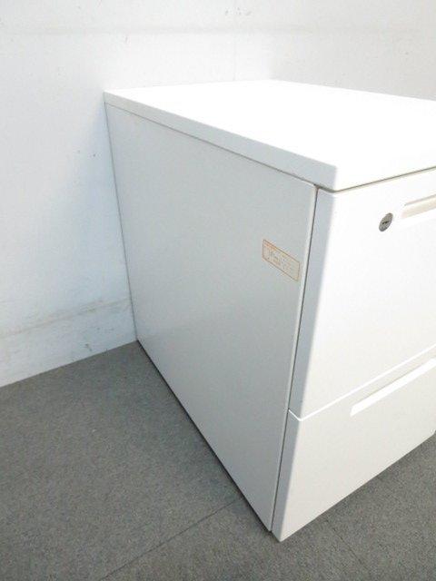 【ファイル書類もスッキリ整理!】■コクヨ製 2段ワゴン ホワイト ■KOKUYO ISシリーズ                         アイエス                                      中古