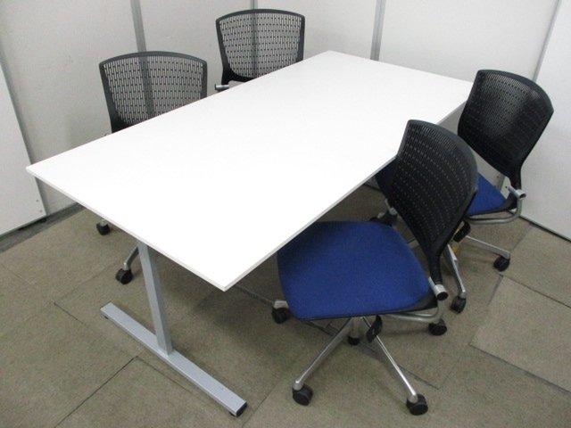 【これ一つでミーテイングがすぐにできる!!】最大4人座れるテーブルとチェアのセット