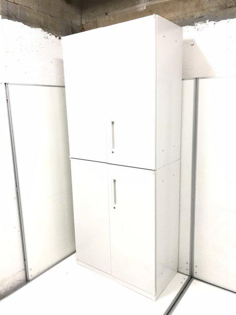 【A4サイズで6段収納可能な大容量!】定番組み合わせの書庫セットが入荷!両開き+3段ラテラルのホワイトカラー!