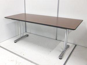 定価18万の高級テーブル!オシャレなブラウンカラー!高級感のある会議テーブル!応接用としても活用可能!