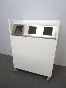 【空き缶・ビン・ペットボトルのゴミ箱!】■分別ダストボックス! キャスター付!