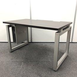 【1台限定】天板角に割れありのためお求めやすく!!1200㎜幅のシックなブラウン平机!