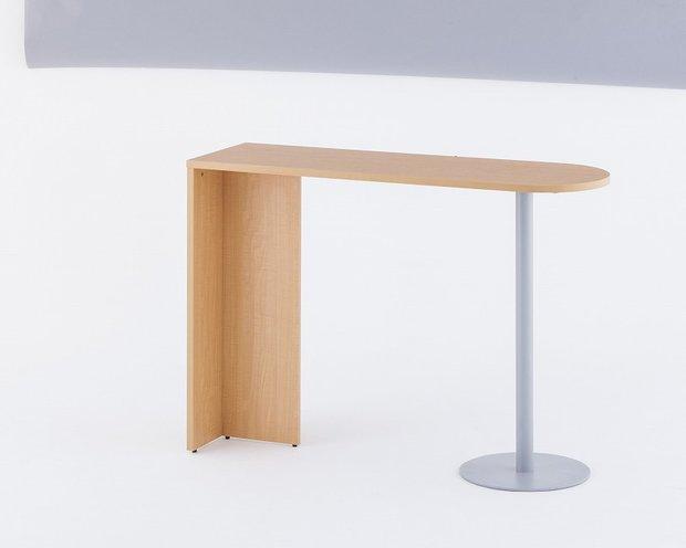 【新古品】優しい木目のハイカウンター用サイドテーブル【アールエフヤマカワ】