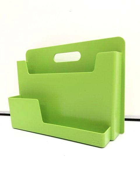 【明るいグリーン】ウチダ【持ち運びも出来ちゃう便利な書類ケース】