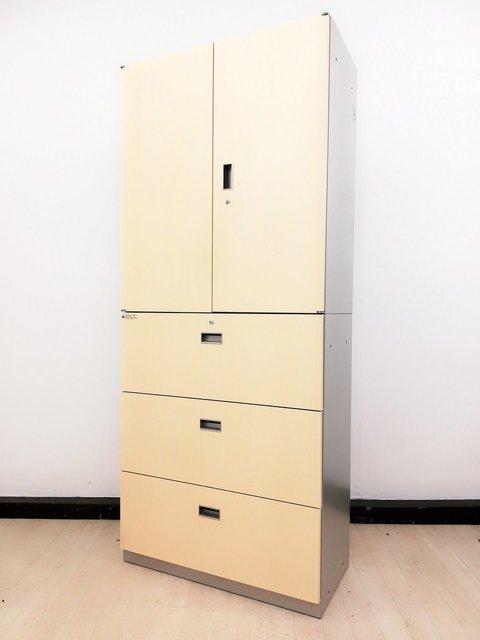 【1台限定】オフィスにグレー色の書庫はもういらない!?女子ナイスシリーズナチュラルテイスト書庫◆イトーキ製