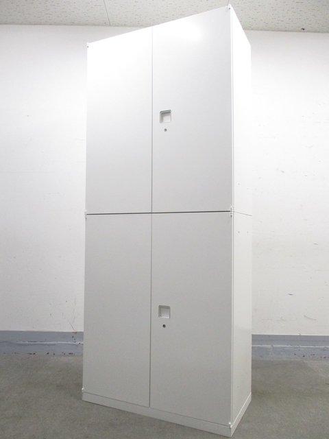 【状態良好!】【4台入荷!】今トレンドカラーのホワイト書庫セット!マルチハンドル仕様で使いやすい!