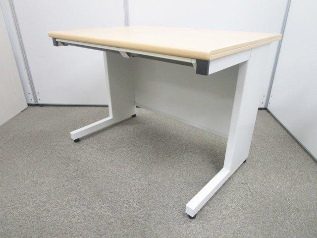 【コンパクトサイズの平机!】横幅1000mmでどんなオフィスにも!ナチュラルカラーで暖かみのある空間に!