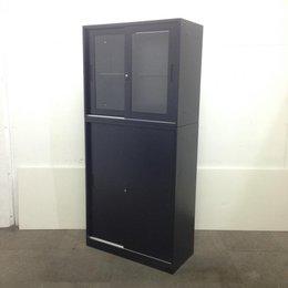【新古品】|【ブラック】|人気の上下書庫|女性も使いやすい高さ1910mmサイズです!