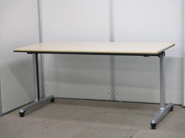 【T字脚タイプ入荷!】1500㎜の高級ミーティングテーブル。希少品につき残りわずか!