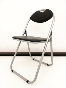 【お問い合わせ下さい!】あると便利な折り畳み式パイプ椅子■ビニール地