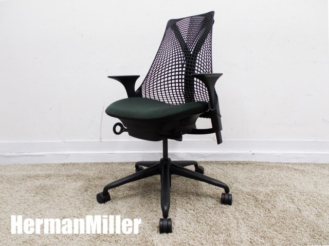 HermanMiller/ハーマンミラー セイルチェア 肘付 ノワール AS1YA23HA N2BKBBBKBK9115