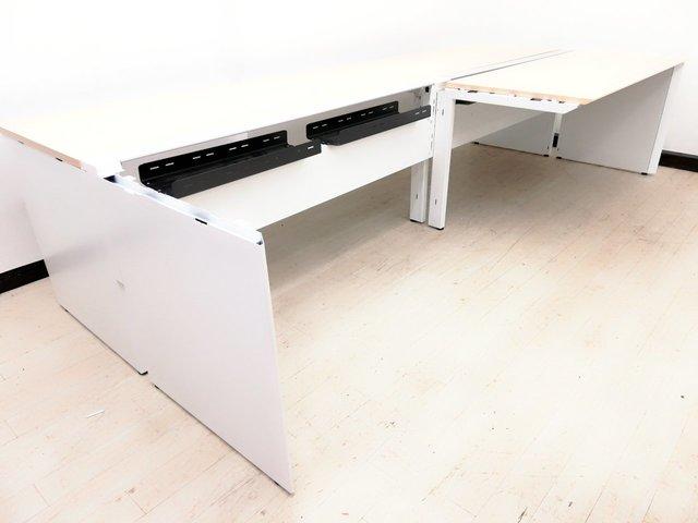 【幅3600mm】【4名分デスク】分割天板で組立簡単!搬入ラクラク!【コクヨ製】                         ワークヴィスタ                                      中古