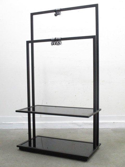 【オフィスの必需品!】【1台限定!】珍しいブラックカラーのコートハンガー!2か所にコートを掛けることができます!!