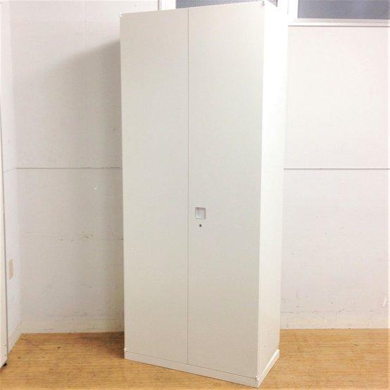 【定番シリーズ】【大容量収納】キレイなホワイト色のオカムラ製レクトラインシリーズの両開き