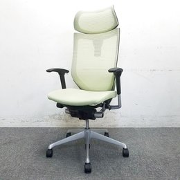 【リクライニング不良】新品ヘッドレスト装備!洗練されたデザインと多彩なバリエーションであらゆるオフィスに調和。中古 高級チェア メッシュチェア バロン