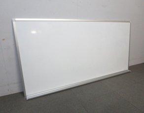 【スムーズに書ける!ホーロー製盤面!】■コクヨ製壁掛けホワイトボード!W1800mmタイプ!【片面無地!】