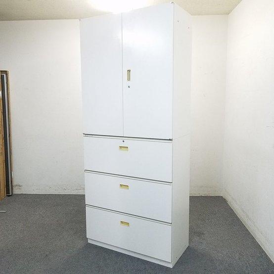 【14セット入荷】イトーキ製|シンラインシリーズ|オフィスの雰囲気が明るくなる人気のホワイト☆|大容量収納可能です♪ 中古家具 リサイクル