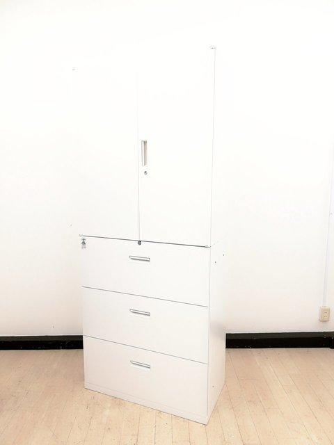 【4セット入荷】大容量!思わずうっとり純白のホワイト書庫◆スチール製安心の国内メーカーナイキ製