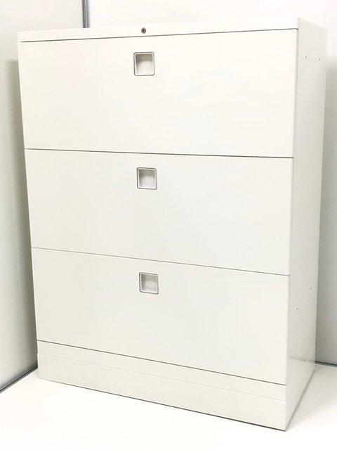 【オカムラ製】3段のラテラルタイプの収納家具です!