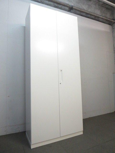 【大量収納におすすめ!】■コクヨ製 両開き書庫 ■エディアシリーズ ホワイト