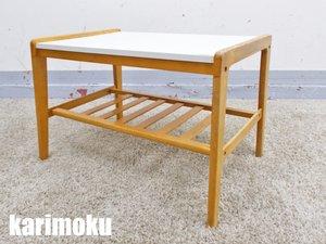 karimoku/カリモク センターテーブル 北欧 デコラトップ オールド