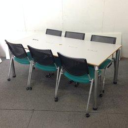 【セット商品】イトーキ製テーブルとオカムラ製チェアのミーティングセット☆