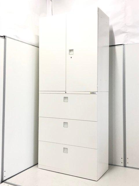 【人気シリーズ!大容量!】両開き+3段ラテラルのスタンダードタイプ■清潔感あるホワイト色