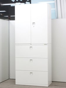【良好品】【オフィスの雰囲気、変わります】基本の組合せ。品質で選ぶならこれ!】オカムラ製/レクトライン/ホワイト