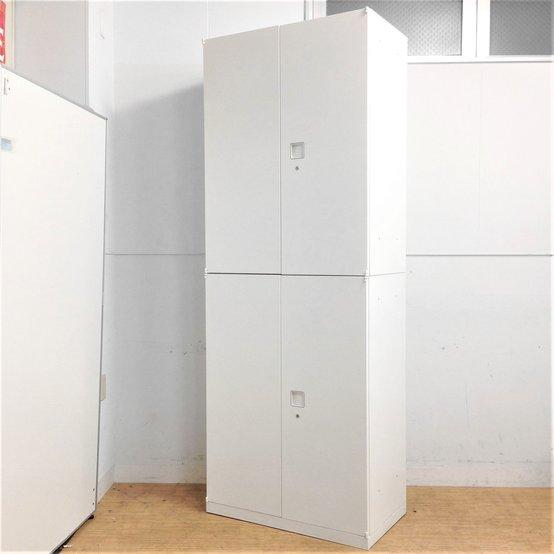 【在庫入替価格】【限定3台】スリムタイプの大容量ハイキャビネット!!上下分割可能で、搬入設置も安心!!オカムラ レクトライン