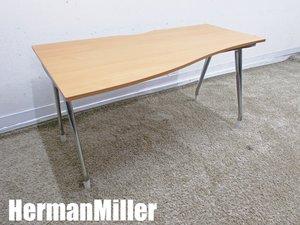 HermanMiller/ハーマンミラー アバック エンバイロメンツ 左ラウンドデスク 木目プリント W1400
