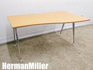 HermanMiller/ハーマンミラー アバック エンバイロメンツ 右ラウンドデスク 木目プリント W1400