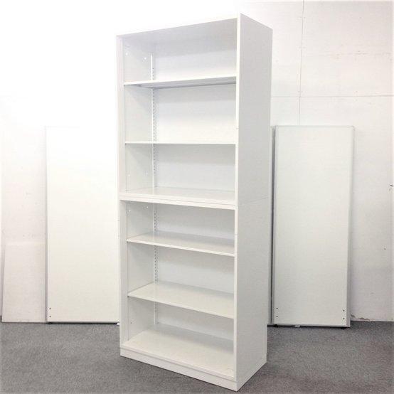 【2セット入荷!】出し入れラクラクなオープン書庫の上下セット【ホワイト】