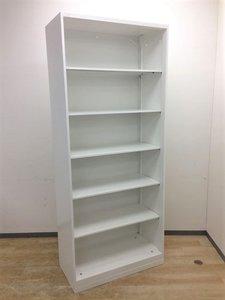 【取り出したいものを取り出したい時に】オカムラ製 流行のホワイト オープン書庫