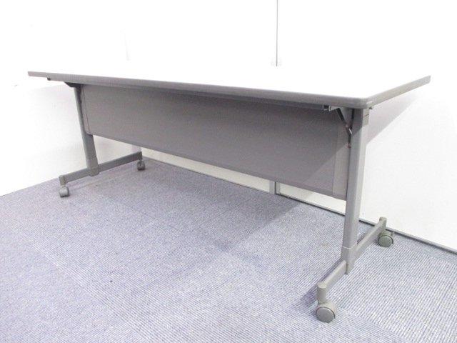 【天板可動でコンパクトに!】幅1800mmのサイドスタックテーブル入荷! 場所が無くても移動や片付け簡単に!