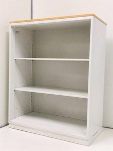 【大人気商品】中古市場では希少性の高いオープン書庫! ◆内田洋行製 ◆HSシリーズ ◆ホワイト×ナチュラル