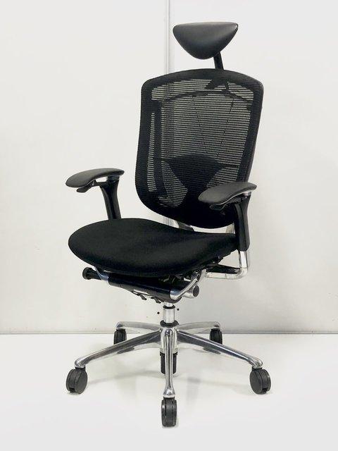 快適な座り心地と屈まず出来る操作性!オカムラ製コンテッサチェア!ヘッドレスト付