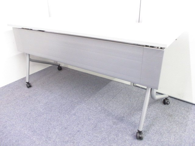 【2台入荷!】1テーブル2名様用!省スペースの研修室におすすめ!場所を取りたくない人必見!【W1500mm】【幕板付き】