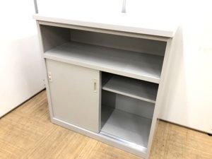 【日焼あり】収納庫として便利 ハイカウンター W900