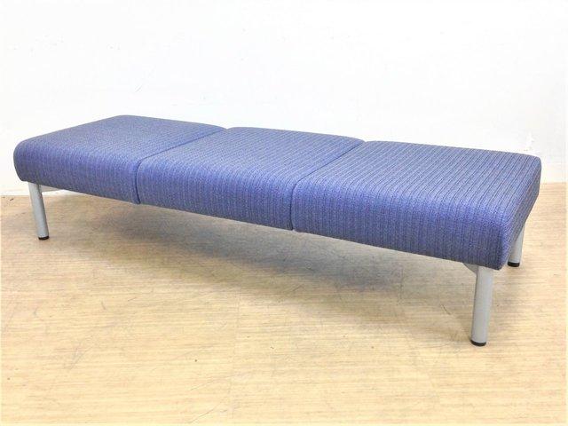 3人掛け|鮮やかなカラーのソファーベンチ オカムラ